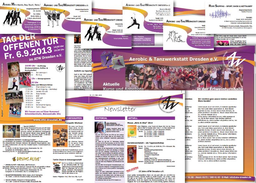 ATW Dresden e.V. – Plakat, Newsletter, Flyer, Visitenkarten